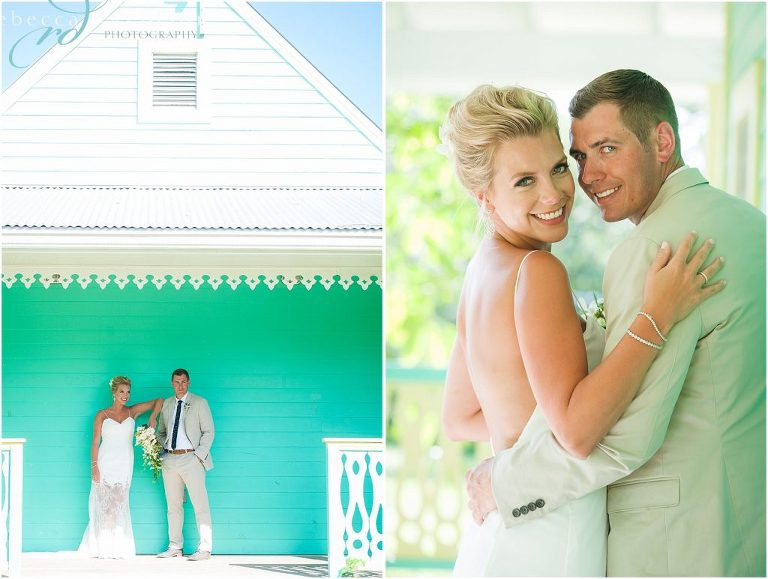 bright green old cayman house