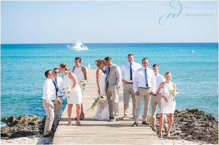 kissing bridal party