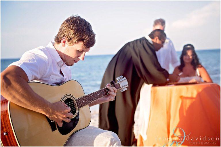 private cayman beach wedding