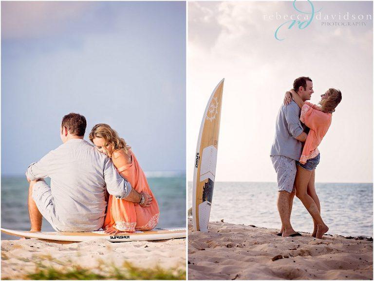 orange and blue themed engagement shoot