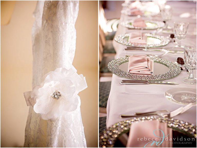 brides dress and decor pink