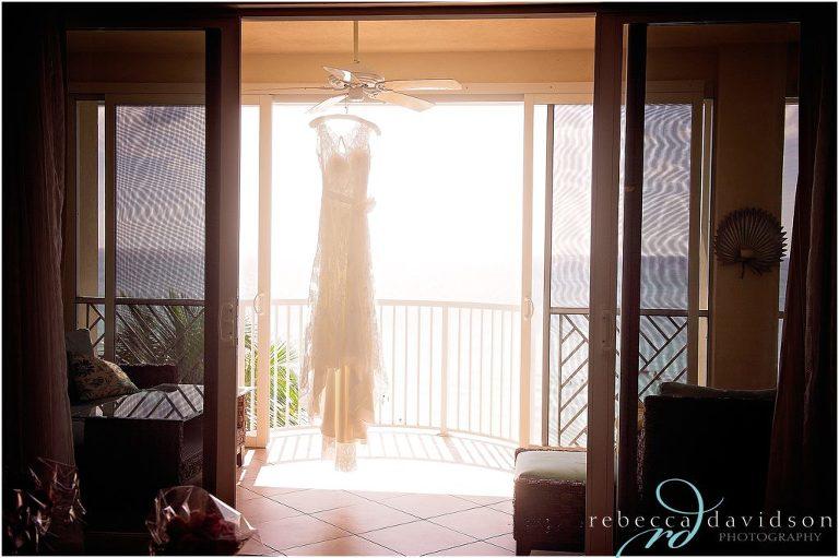 dress hanging on balcomy