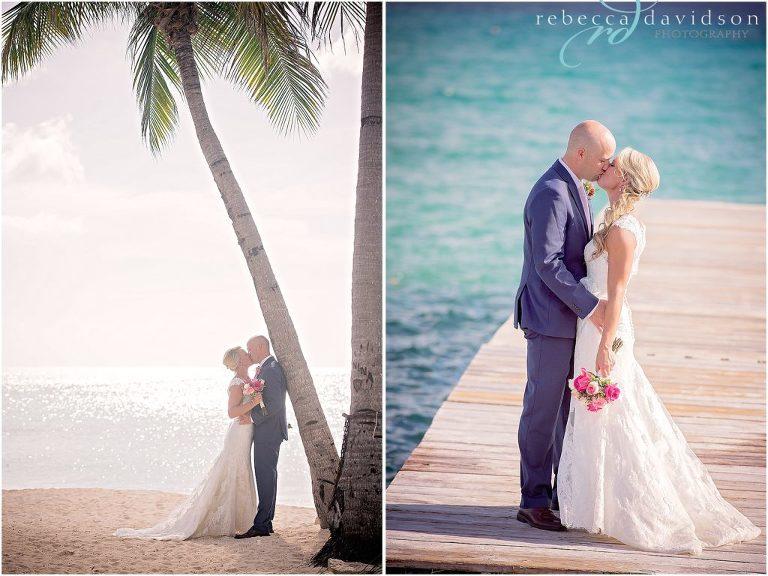 kissing under coconut tree