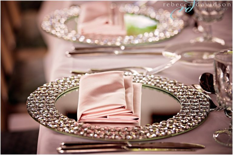 plates and decor at grand old house wedding