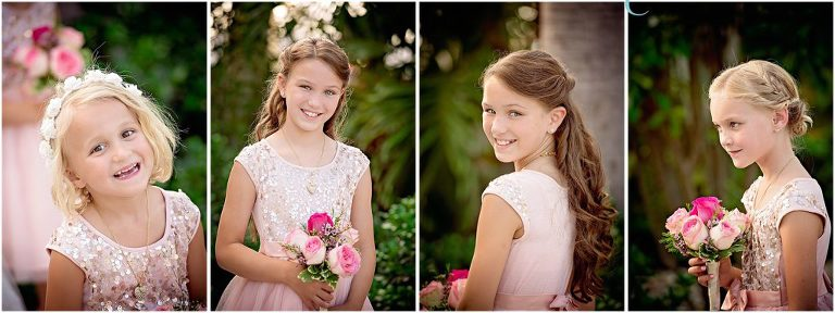 bridemaids in pink