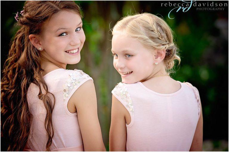 little bridesmaids with braids
