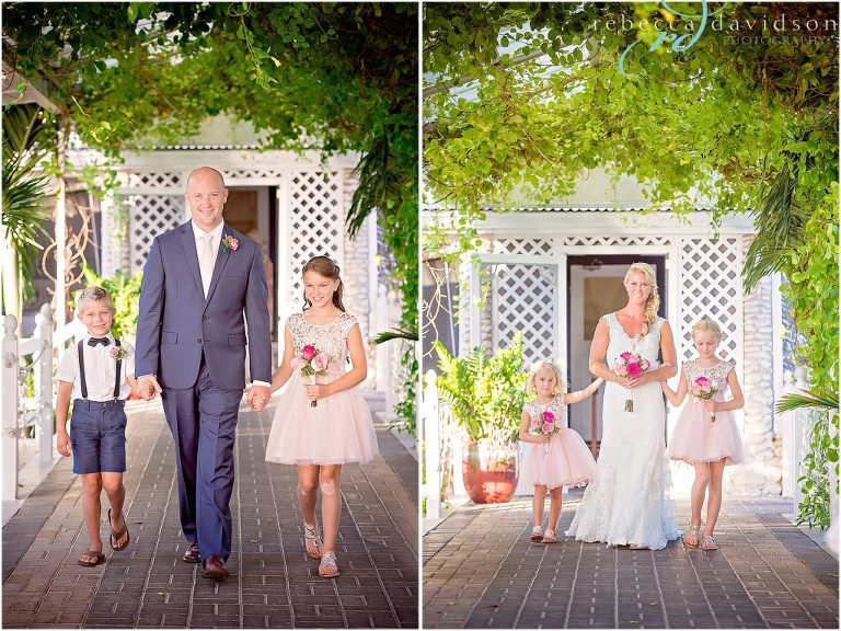 walking down aisle in navy blue for grand old house wedding