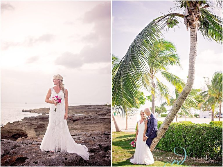 bride on ironshore rocks cayman islands