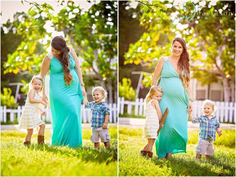pregnant mum with children island bump session