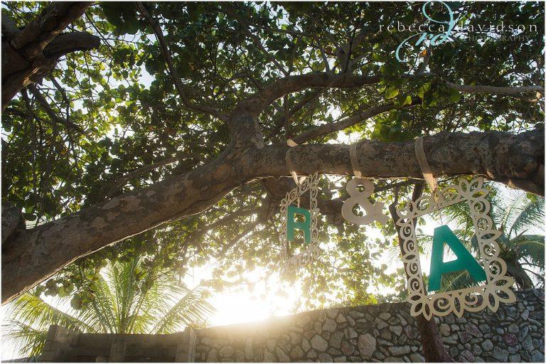 initials_hanging_on_tree