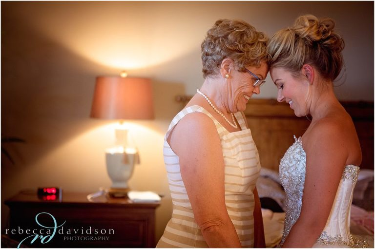 grandma spending time with bride