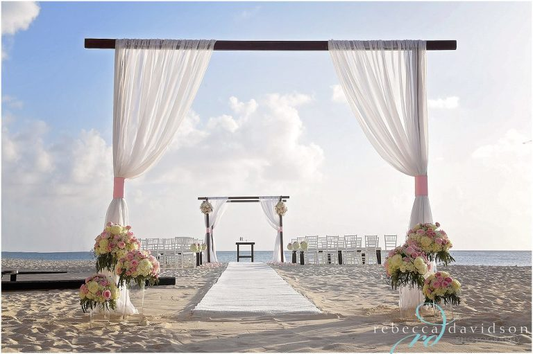 chuppah on beach ritz grand cayman wedding