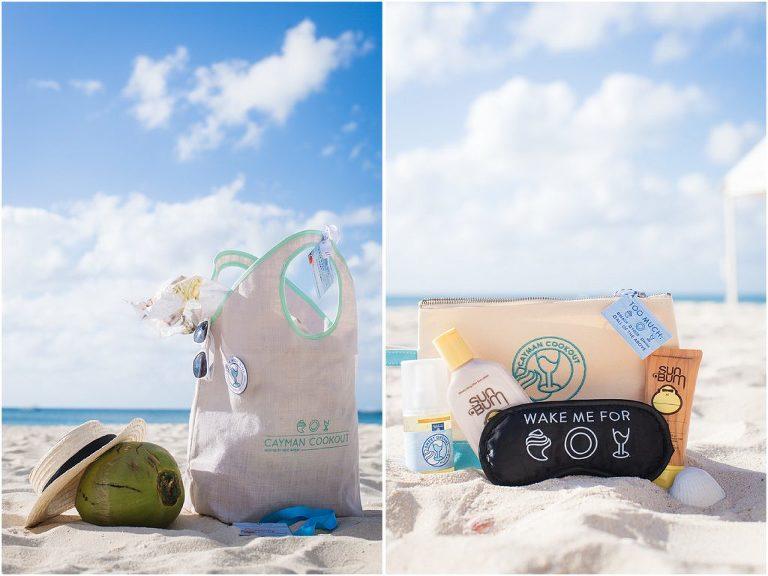 gift bags on ritz beach