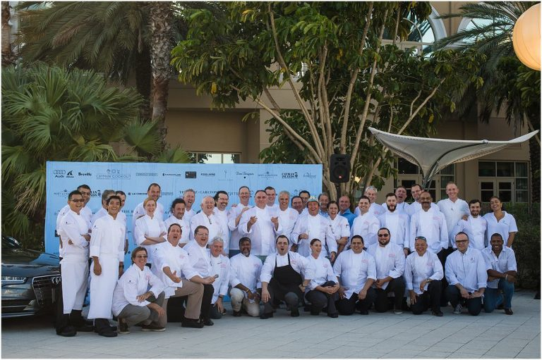 group shot of celebrity chefs