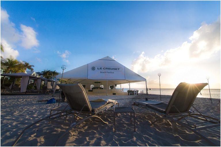 sponsorship tent on beach