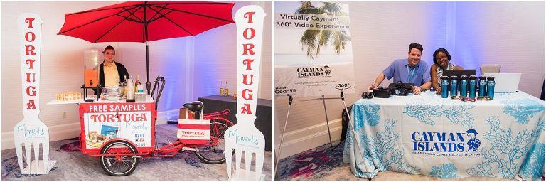 tortuga and tourism booths