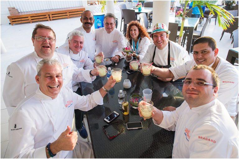celebrity chefs toasting