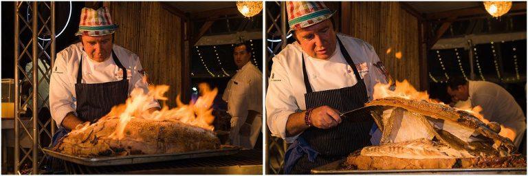 chef cooks 25 lb grouper
